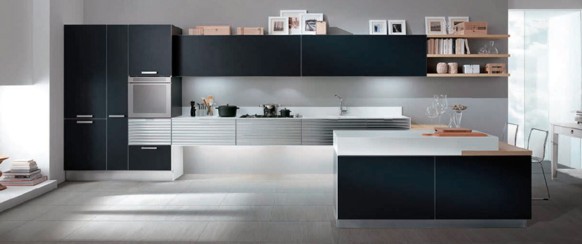 Ideas para decorar una cocina moderna y urbana dinova for Decorar una cocina alargada